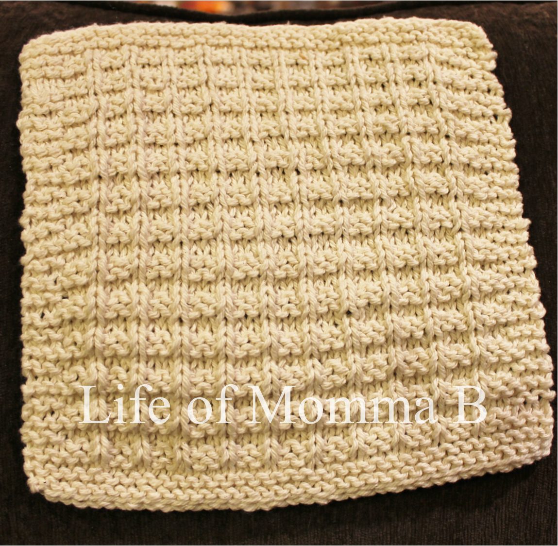 Knitted Basket Weave Dishcloth Pattern : Waffle knit dishcloth   7 of 12