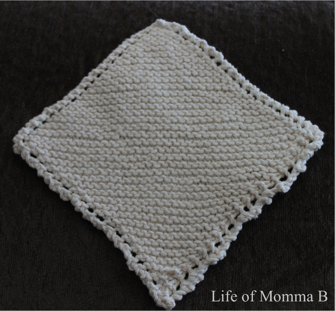 Free Diagonal Knit Dishcloth Pattern : Diagonal Dishcloth, #12 of 12 The Life of Momma B