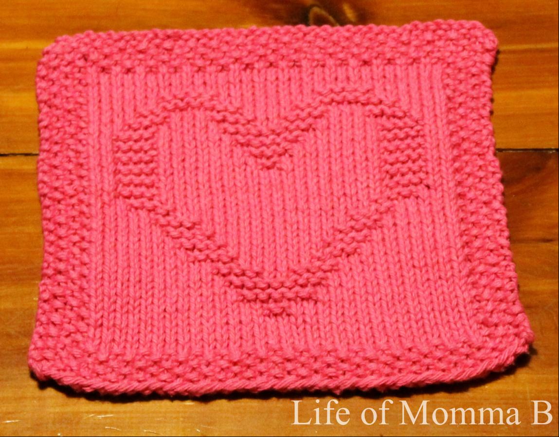 Knitting Pattern Heart Dishcloth : February Dishcloth