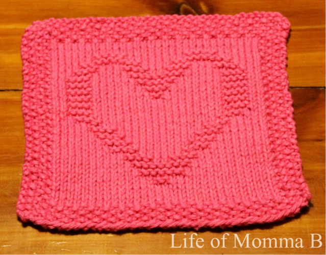 Heart dishcloth - 1