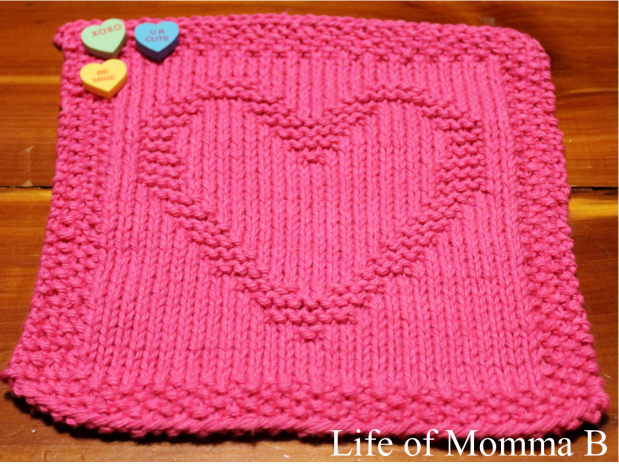 Heart dishcloth - 2