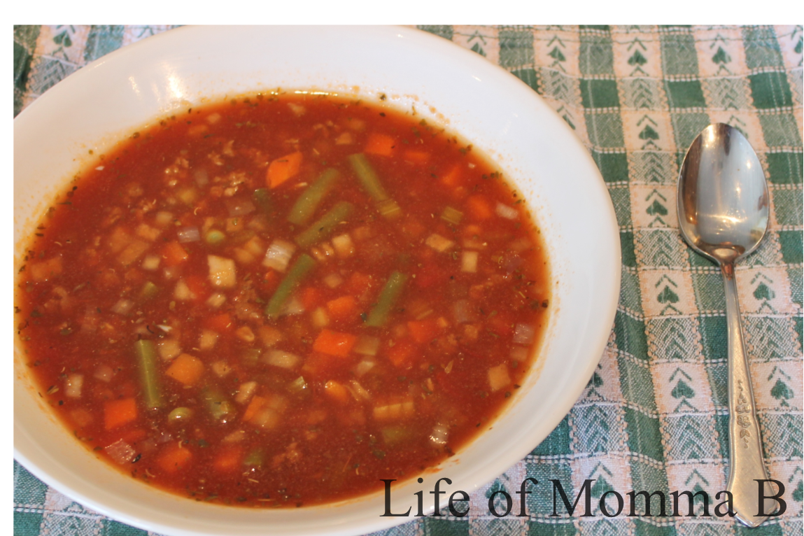 Hamburger Vegetable Soup | The Life of Momma B
