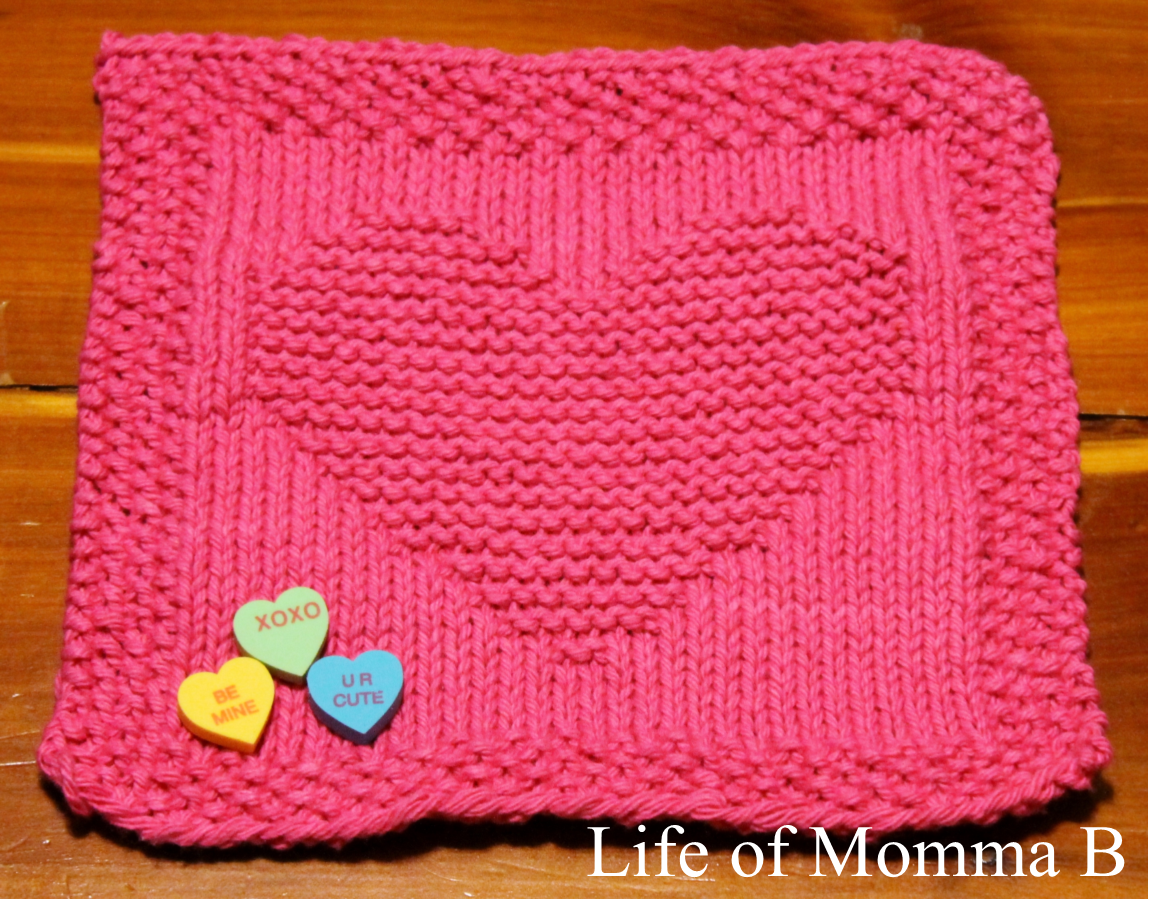 Knitted Moss Stitch Dishcloth Pattern : My Whole Heart