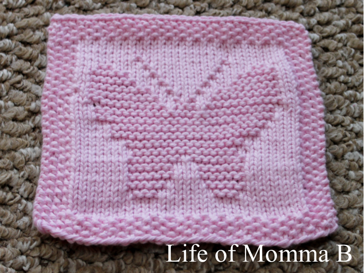 Knitting Pattern Butterfly Dishcloth : free pattern The Life of Momma B