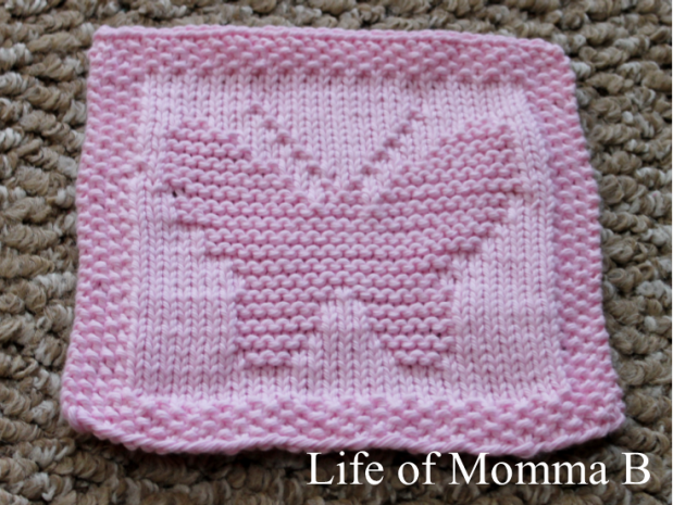Free Knitting Pattern Butterfly Dishcloth : free pattern The Life of Momma B
