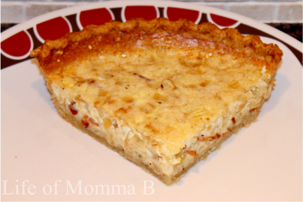 Quiche recipe from Life of Momma B