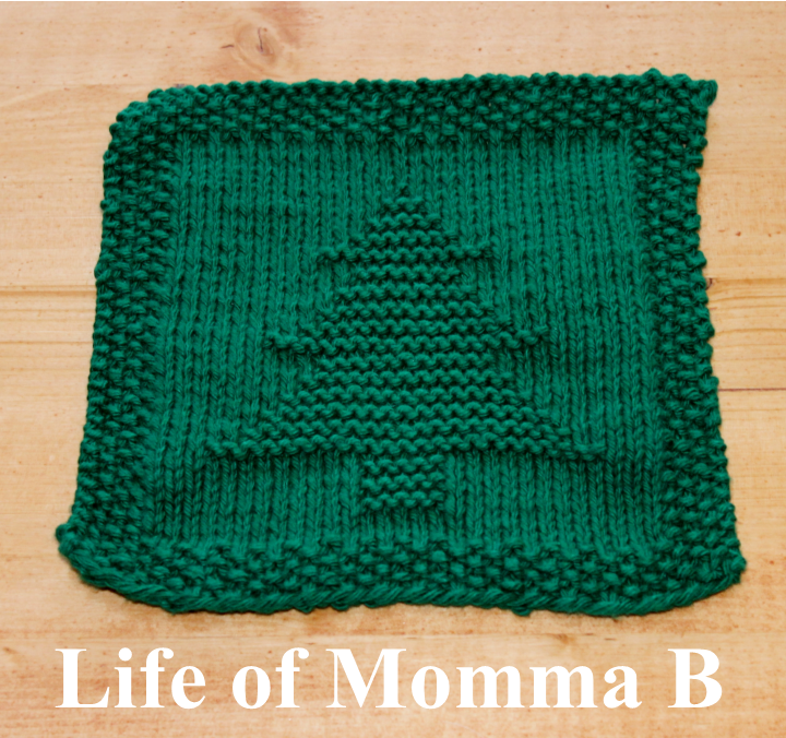 Christmas Knitting Patterns Easy : Christmas Tree Dishcloth