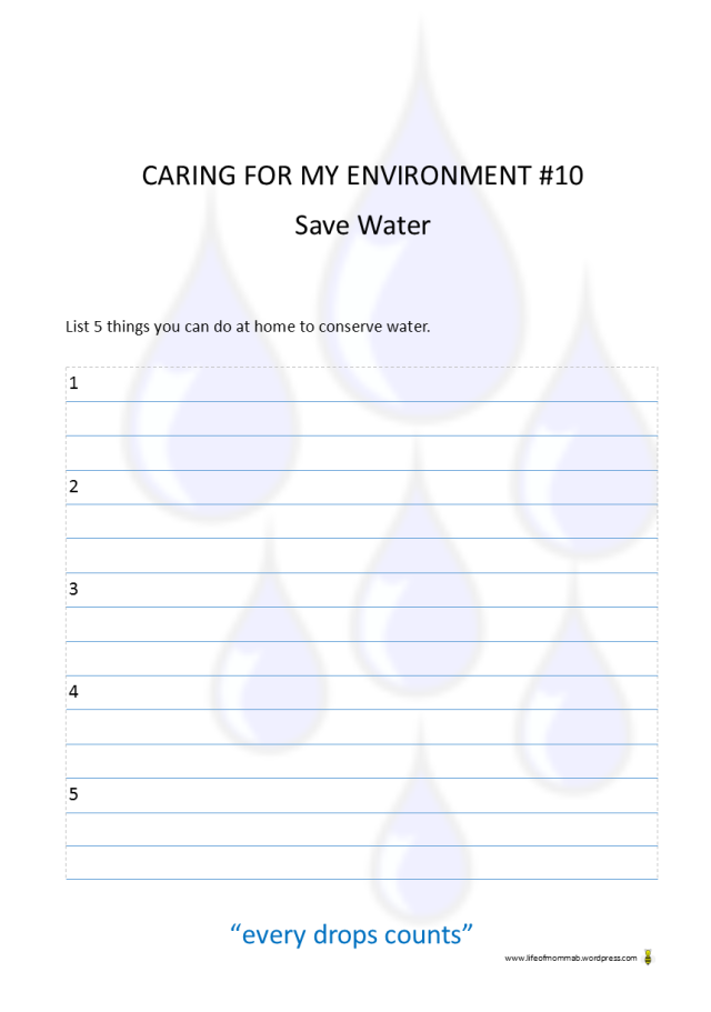Caring for my Environment #10 printable | Life of Momma B
