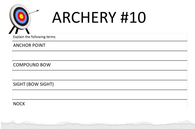 Archery #10