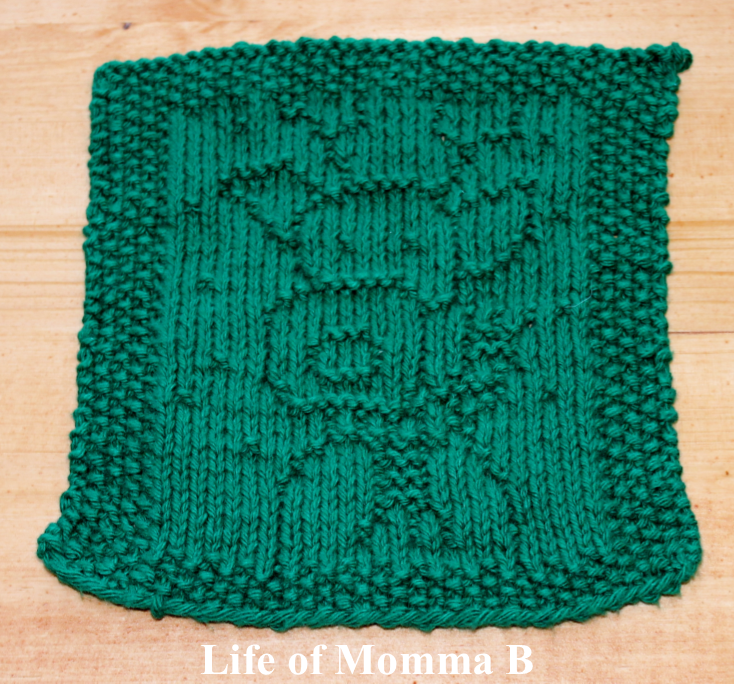Free Knitting Patterns Holiday Dishcloths : Reindeer Dishcloth