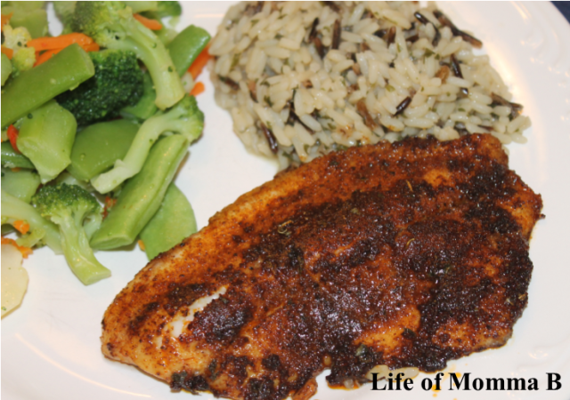 Blackened fish